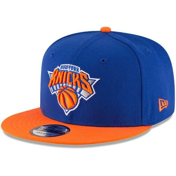 New York Knicks New Era 9FIFTY NBA 2Tone Adjustable Snap Snapback Hat Cap  950 1c1bf1e8b71