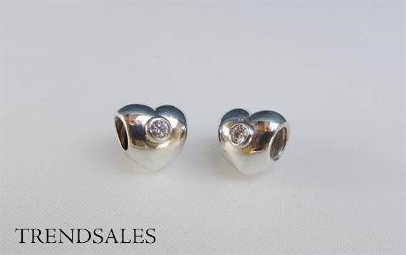 Pandora - Charms, hearts with zirkonia, 790134cz
