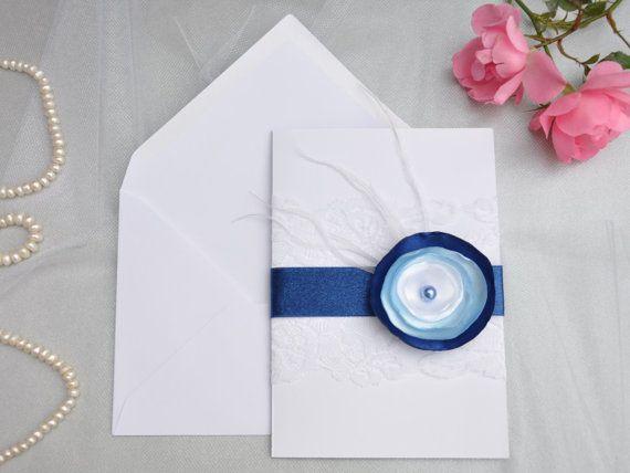 Handgemacht Hochzeitseinladung Einladungskarte zur von KubisCraft