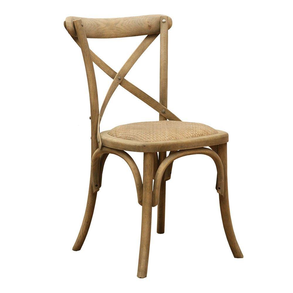 Brucs Quebec Oak Cross Chair