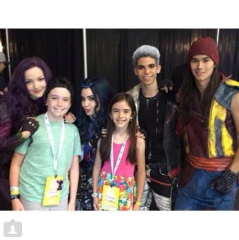 Descendants Cast and the eh bee monkey fans | Descendants