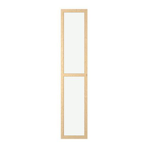 Oxberg Glass Door Birch Veneer 15 3 4x75 5 8 Ikea Glass Cabinet Doors Glass Door Ikea