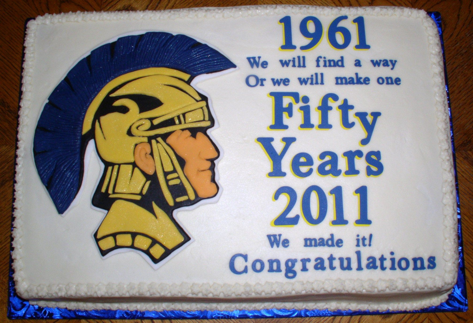 50 Year Class Reunion Cake With Images 50th Class Reunion