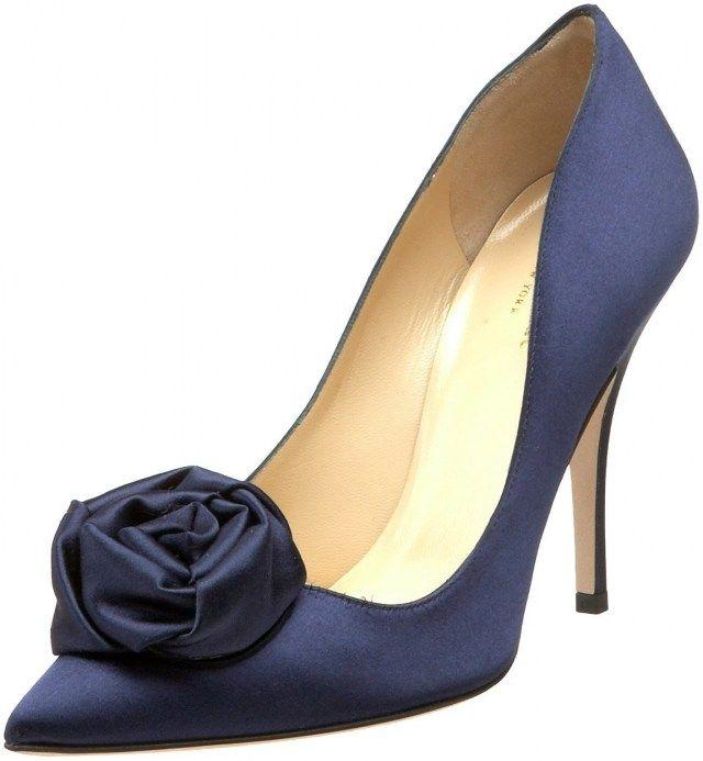 33 Beautiful Navy Blue Wedge Wedding Shoes