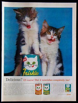 Friskies Cat Food vintage magazine advertisement (1963)