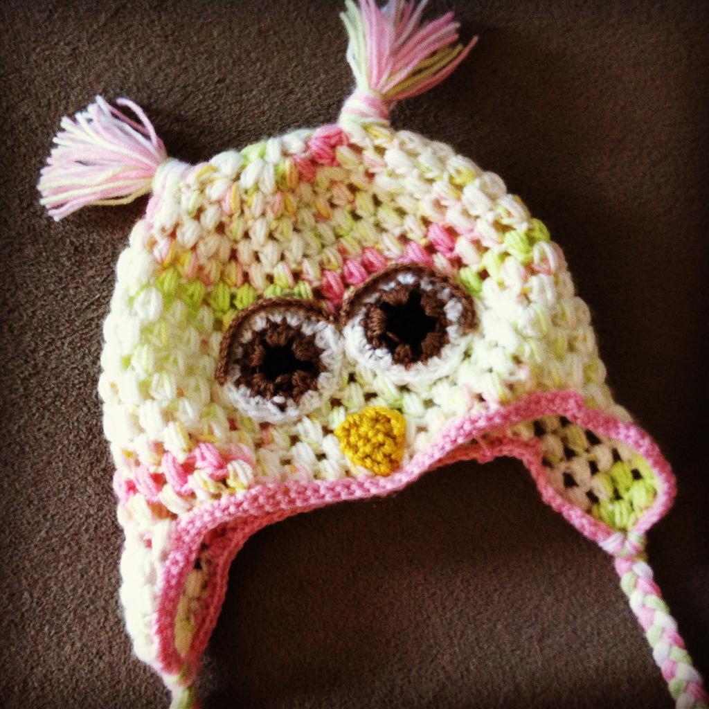 Puff Stitch Owl Earflap Cap   Crochet Owls   Pinterest