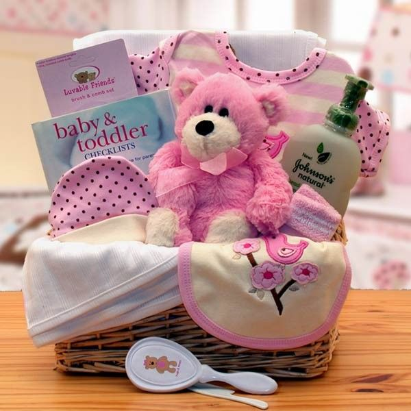 homemade diy gift basket baby shower for girls  baby girl gift, Baby shower invitation