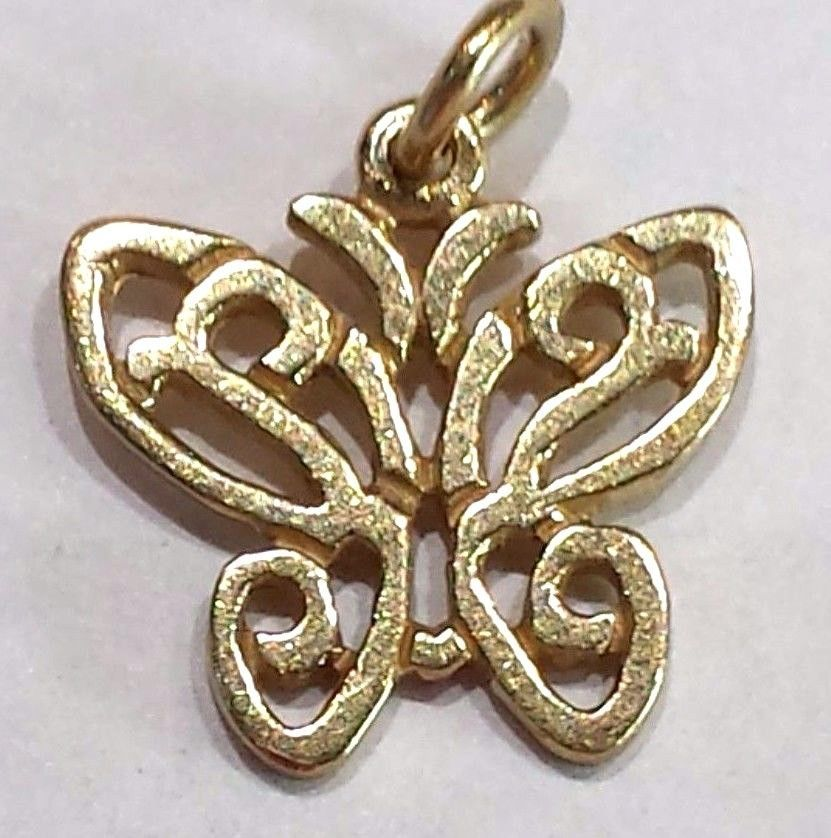 1dbda3400 VERY RARE & RETIRED James Avery 14k Gold Open Lace Wing Butterfly Charm # JamesAvery #Traditional
