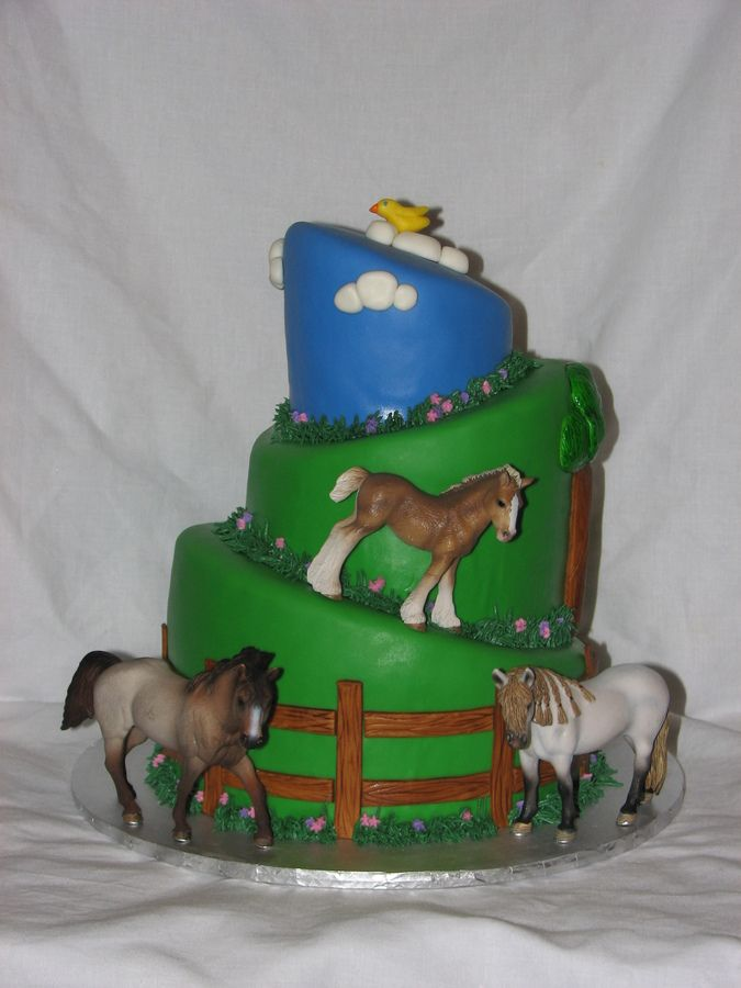 Birthday Cake For Horses Recipe Girl Wanted A Topsy Turvy Cake