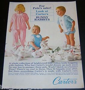 Vintage Ads Of Carters Baby Clothes
