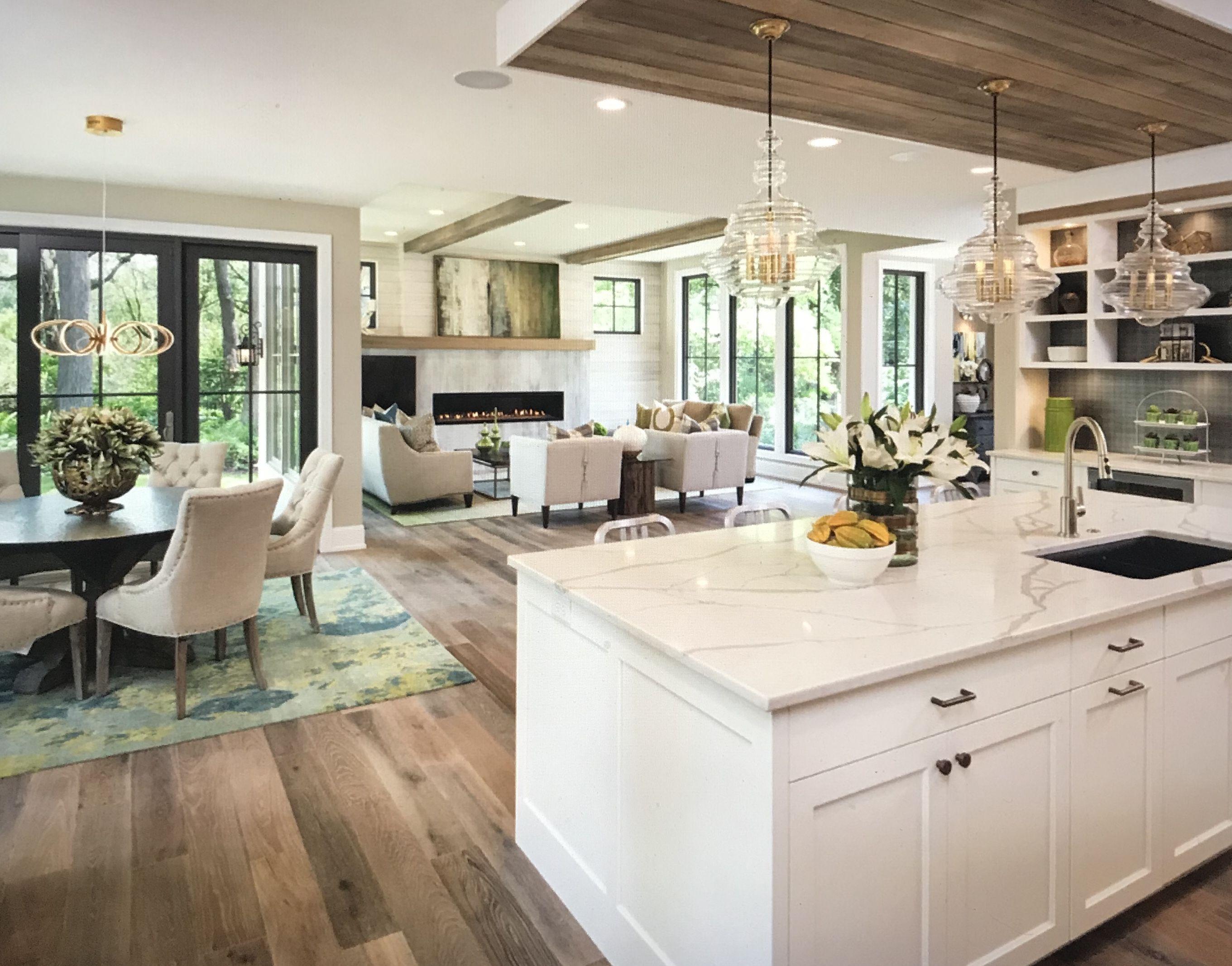 The Open Floor Plan Open Plan Kitchen Living Room Open Concept Kitchen Living Room Kitchen Concepts