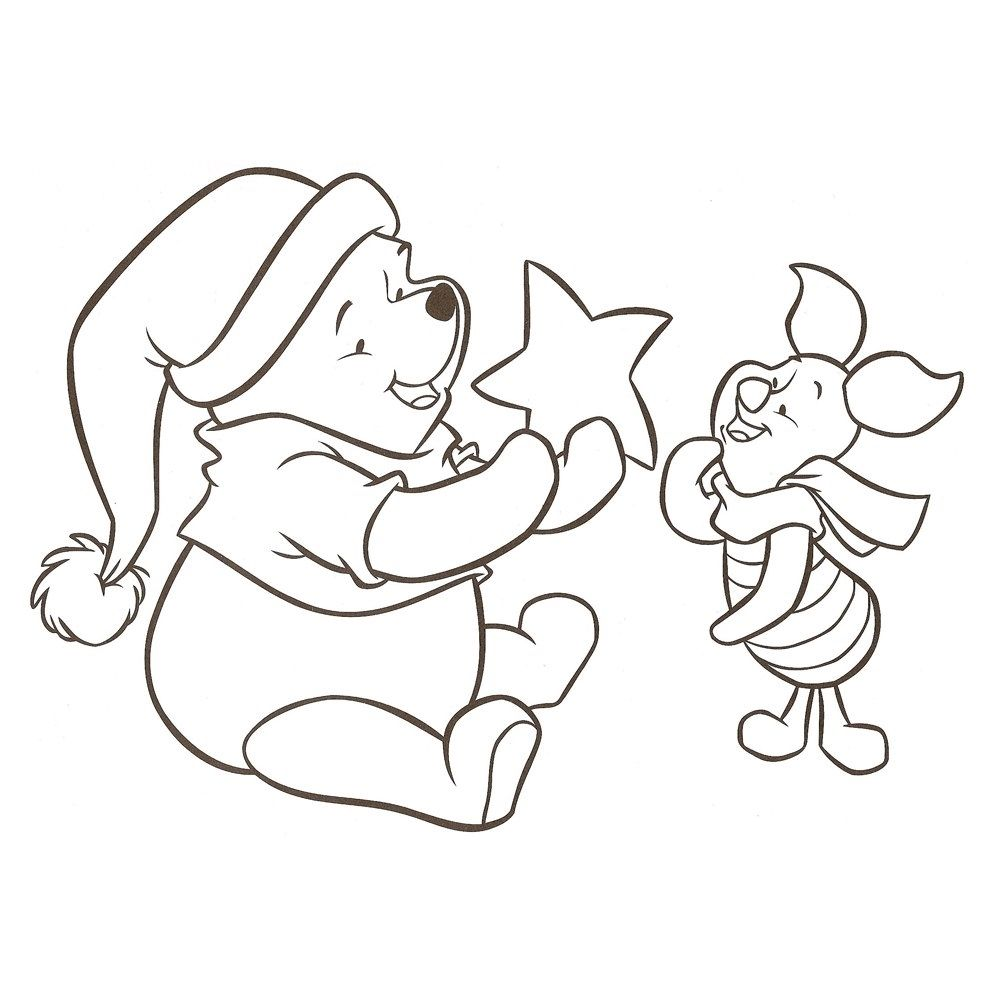Peter Plys Tegninger Til Farvelaegning 20 Disney Coloring Pages Christmas Coloring Pages Winnie The Pooh Christmas