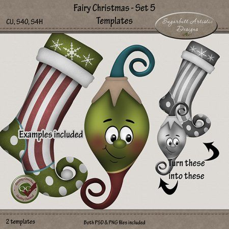 Fairy Christmas Set 5 Templates