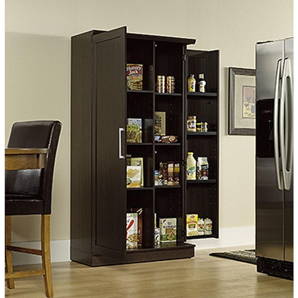Sauder Home Plus Dakota Oak Storage Cabinet  Storage Cabinets Enchanting Home Depot Kitchen Doors Decorating Design