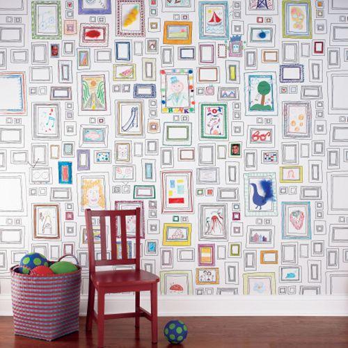 Kid art as wallpaper – love!