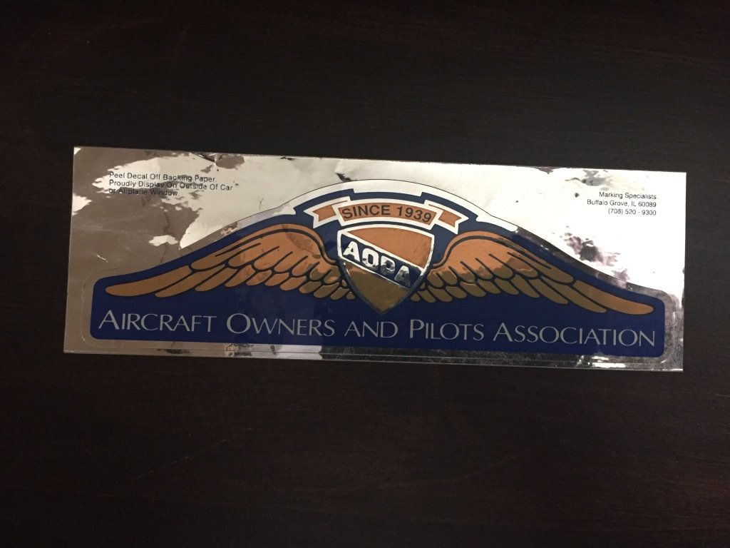 Vintage Aopa Aircraft Owners And Pilots Association Car Etsy Window Decals Pilot Aircraft [ 768 x 1024 Pixel ]