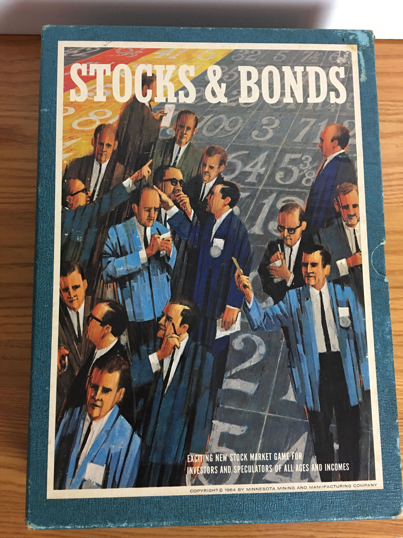 3m bookshelf board game of stocks and bonds 1964 stocks