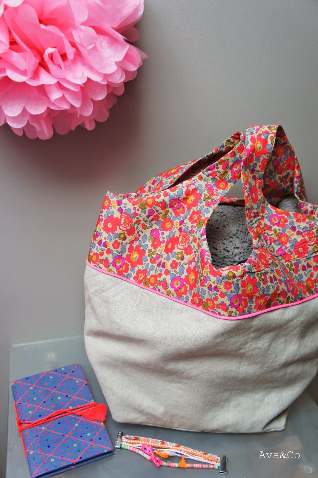 Tuto cosi sac {who can resist something made with Liberty fabric?}
