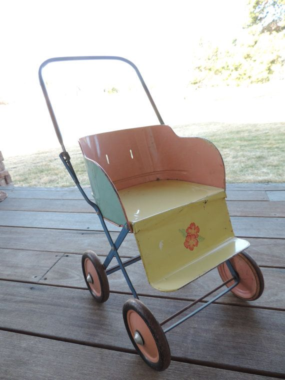 c18a9899b Vintage Doll Stroller Baby Stroller Metal Baby buggy Tin Litho Toy ...