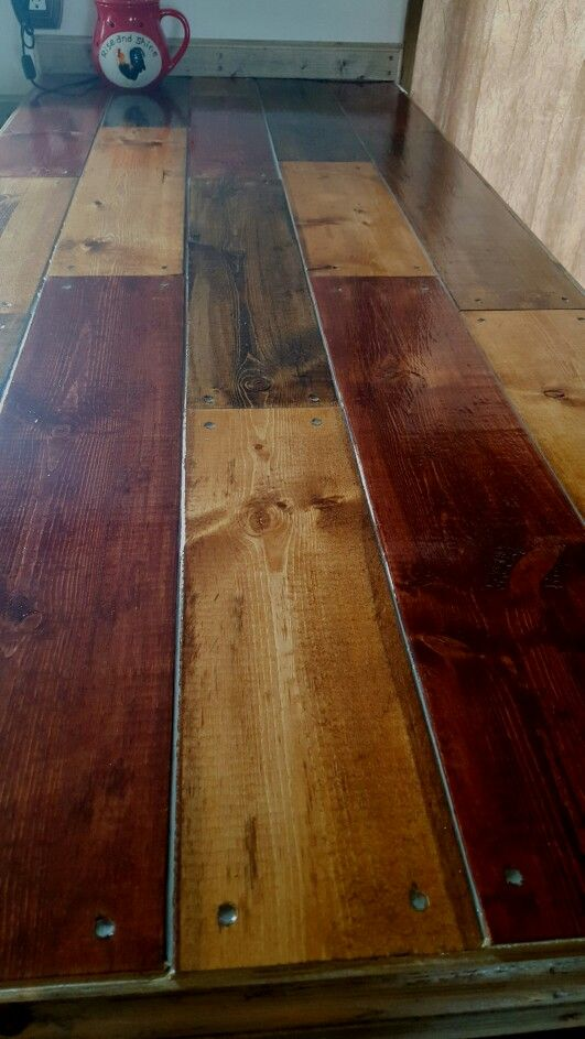 Bar Top Stained Red Mahogany, Early American, And Dark Walnut. It Matches My