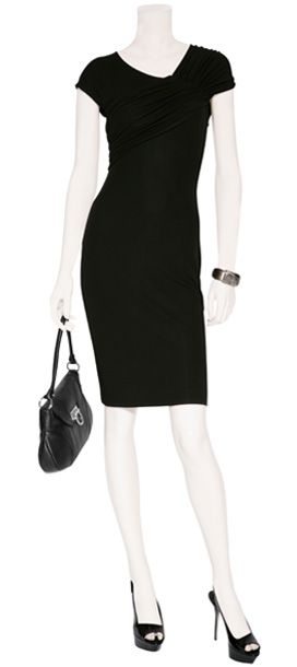 Black Ruched Dress - NARCISO RODRIGUEZ