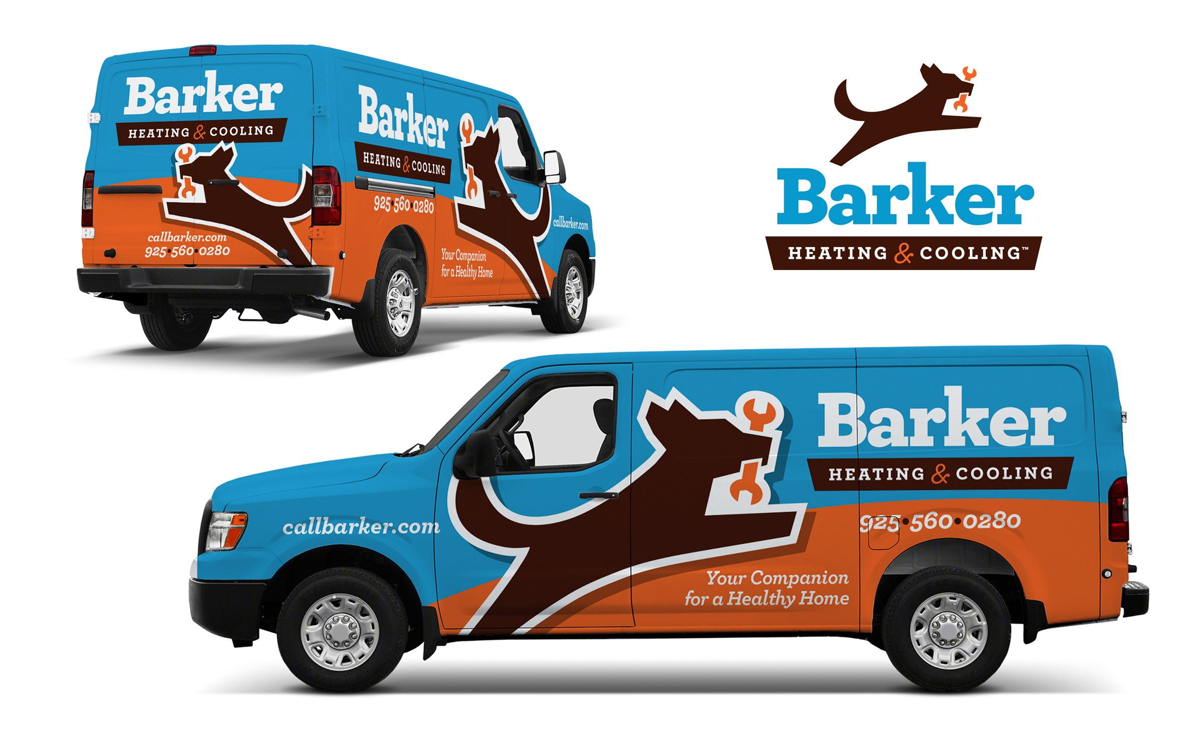 Vehicle Wrap Design For Barker Heating Cooling Nj Advertising