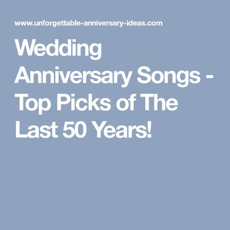 Top 50th anniversary songs