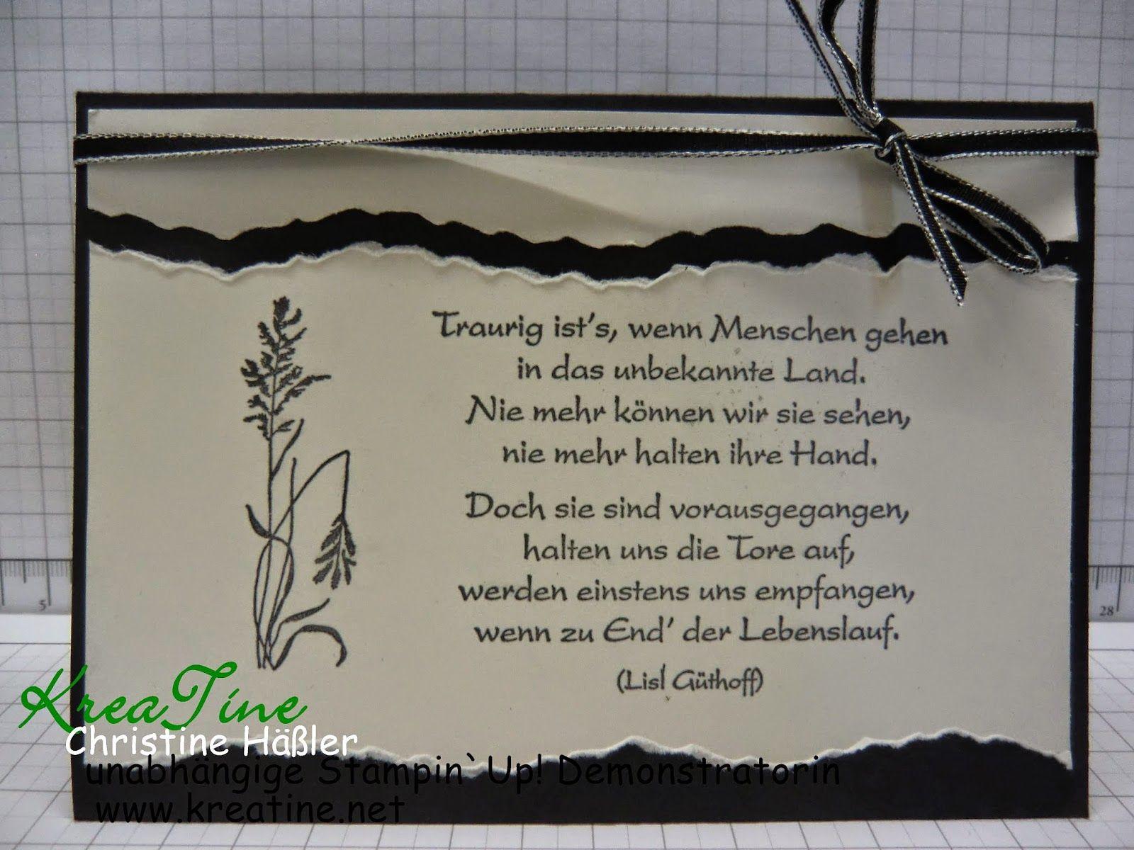KreaTine: Trauerkarte
