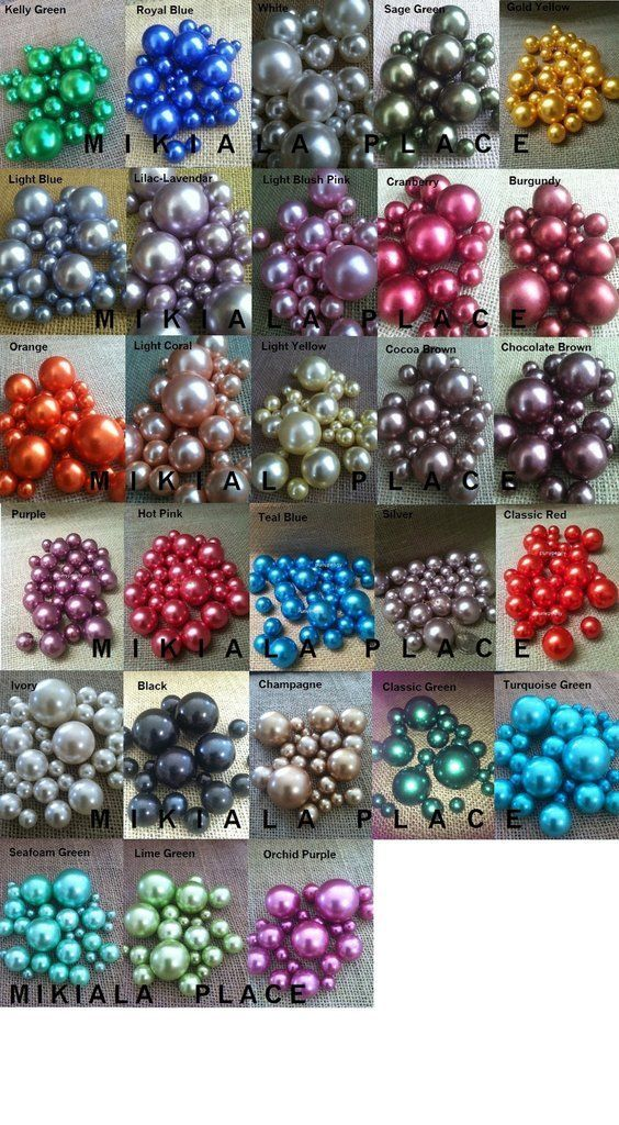 80pc Decorative Pearls Mix Size Over 30 Colors For Floating Pearl