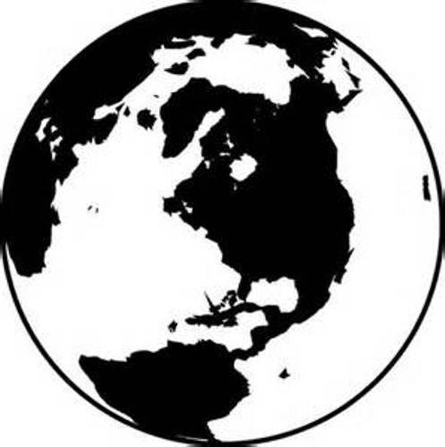 Globe Clipart Black and White | Home Design Gallery