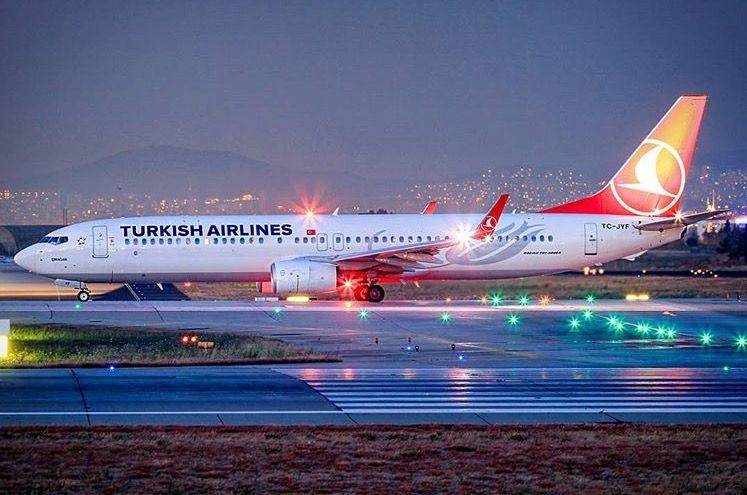Turkish Airlines Boeing 7379F2/ER Havacılık, Uçak, Fotoğraf