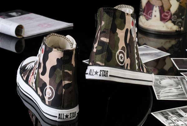#converse Newest Converse Bait Movie Painting All Star Chucks Zipper High  Tops Camouflage Canvas Sneakers Outlet | allstar | Pinterest | Sneaker  outlet, ...