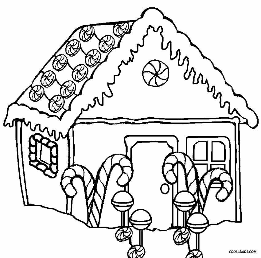 Christmas Gingerbread House Printables.Printable Gingerbread House Coloring Pages For Kids