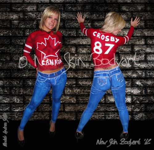Full Body - New Skin Bodyart  jersey and jeans