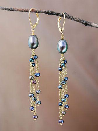 la mejor actitud 12f50 69790 beads and chain earrings | DIY | Pendientes bisuteria ...