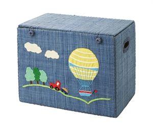 Rice legetøjs kiste. Til pynt, til opbevaring af legetøj og til at lege med. Genialt. Se mere her.