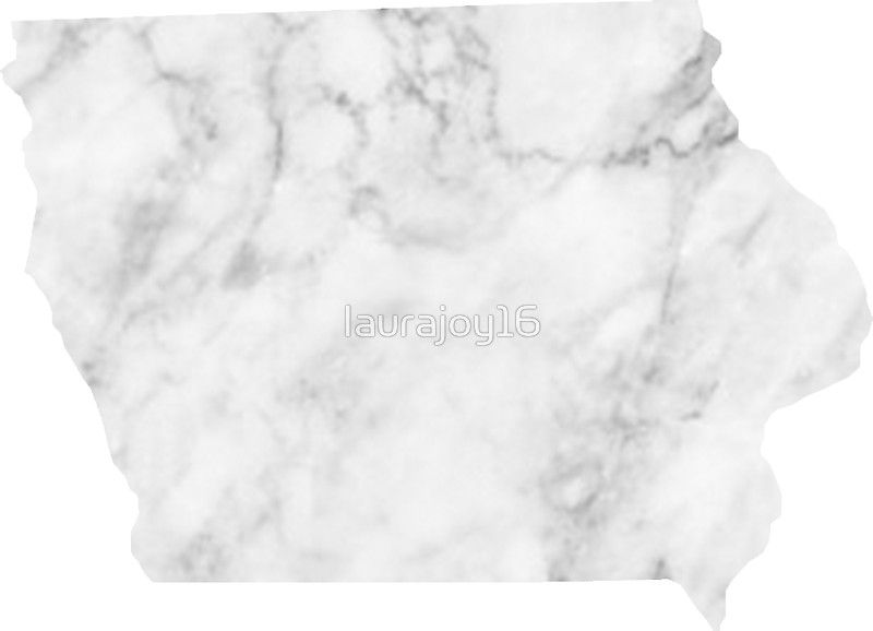 Iowa State Outline Marble Sticker By Laurajoy16 Marble Sticker