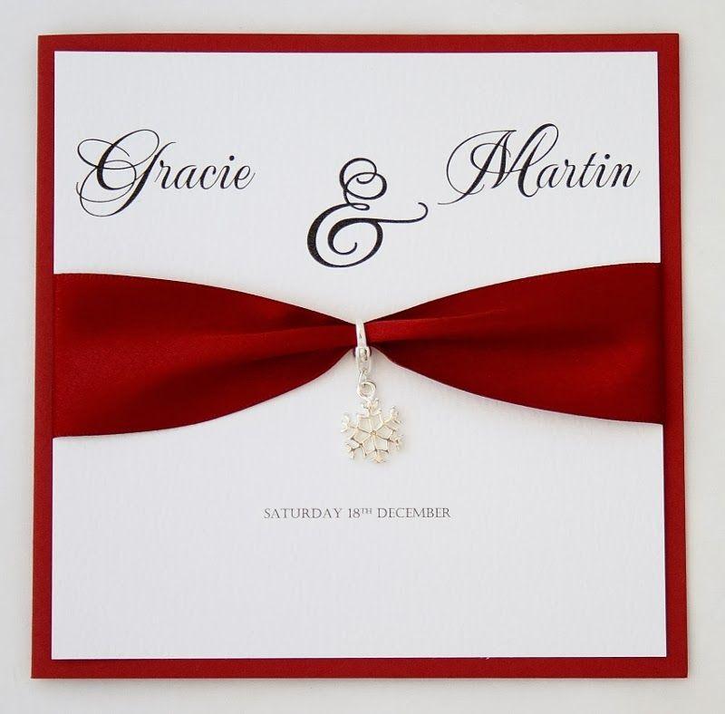 Winter Wedding Invitations Cheap: Winter Wedding Invitation Sample