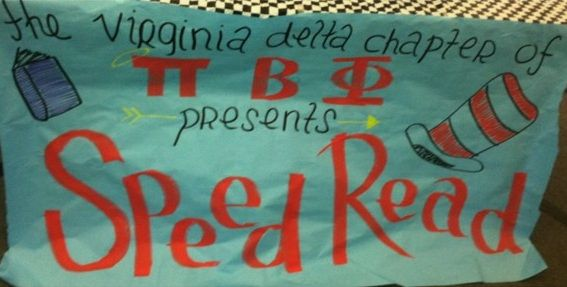 Pi Phi Speed Read Banner Piphi Pibetaphi Pi Beta Phi Pi Phi Speed Reading