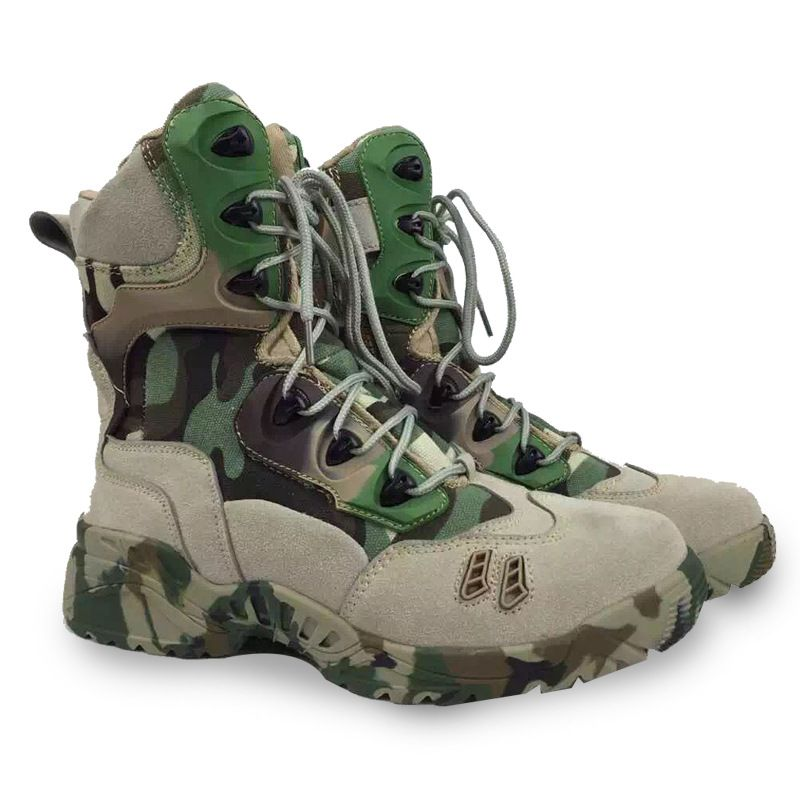 2017 new Men Military Tactical Boots men combat boots Desert Hiking  Camouflage High-top Boots asker bot c51f17b8b2
