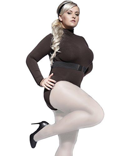 11d82b2220623 Plus Size Plain Tights Perla 40 Denier With Special Comfortable Gusset  XL-4XL by Adrian