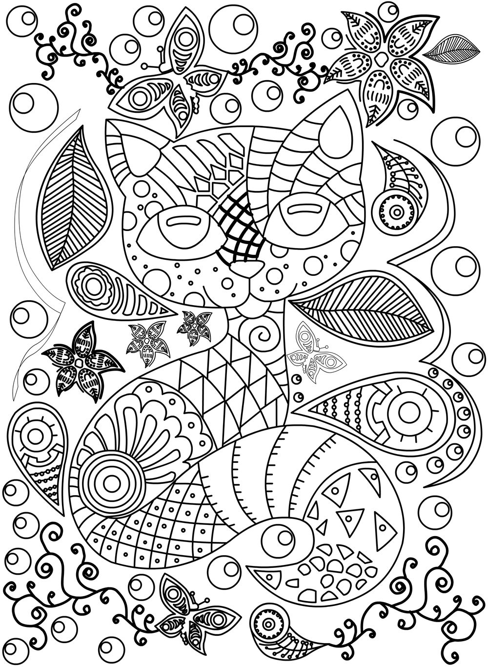 Stress relieving cats coloring - Adult Coloring Book Stress Relieving Cats