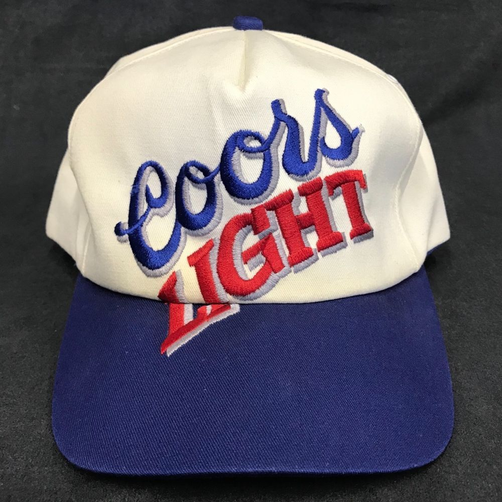 0d75cbd9796 Vintage Coors Light K Products Two Tone Snap Back Hat Cap Beer Trucker Hat   CoorsLight  TruckerHat