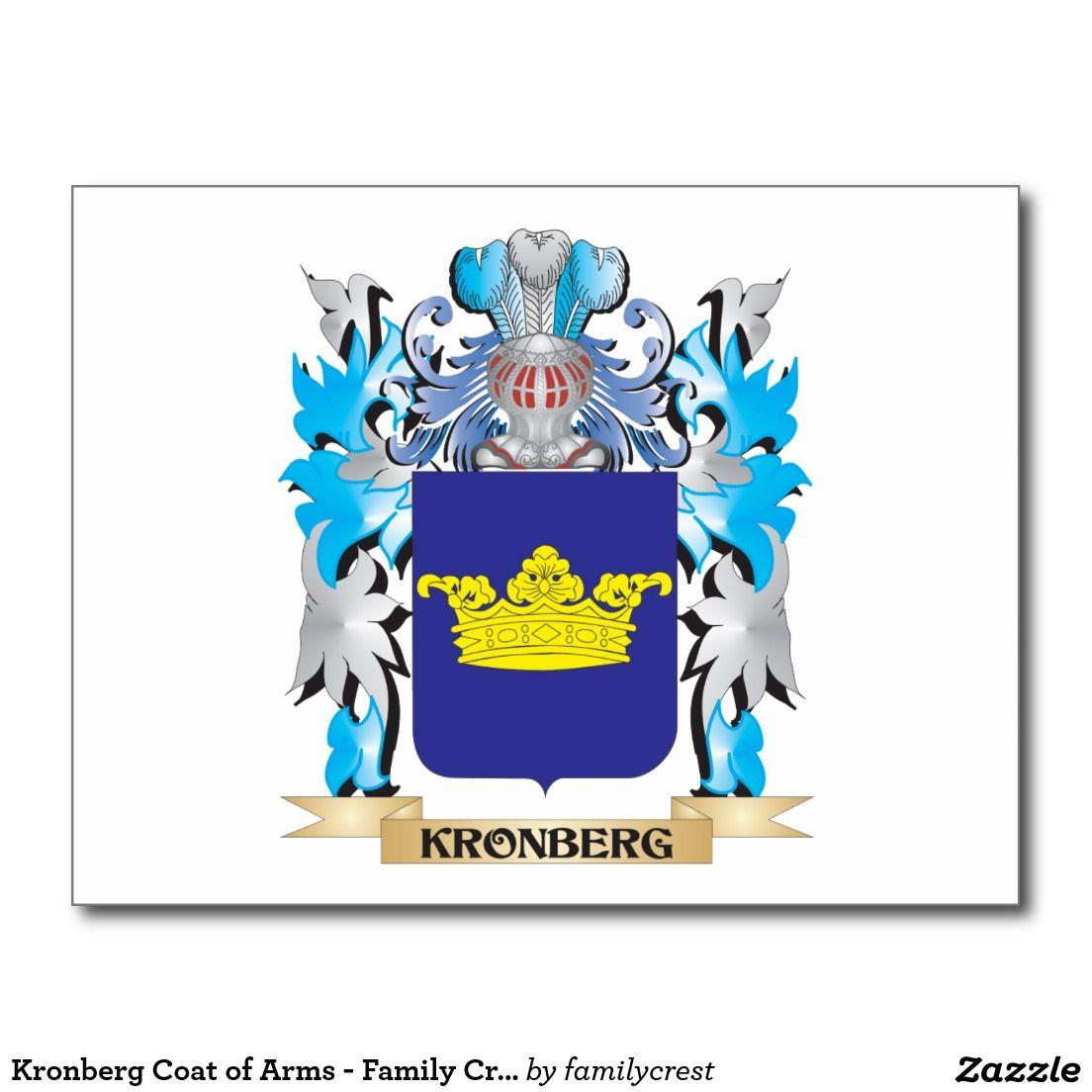 Kronberg Coat of Arms - Family Crest Postcard | Zazzle com