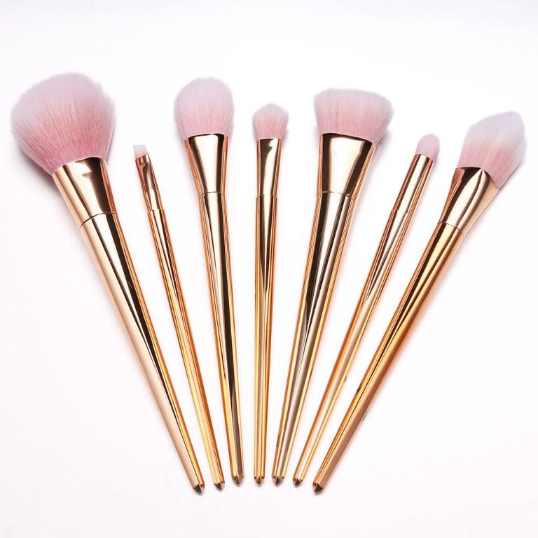 7pcs Pedzle Do Makijazu Makeup Hybryda Set 5919421410 Oficjalne Archiwum Allegro Pink Makeup Brushes Set Pink Makeup Brush Rose Gold Makeup Brushes