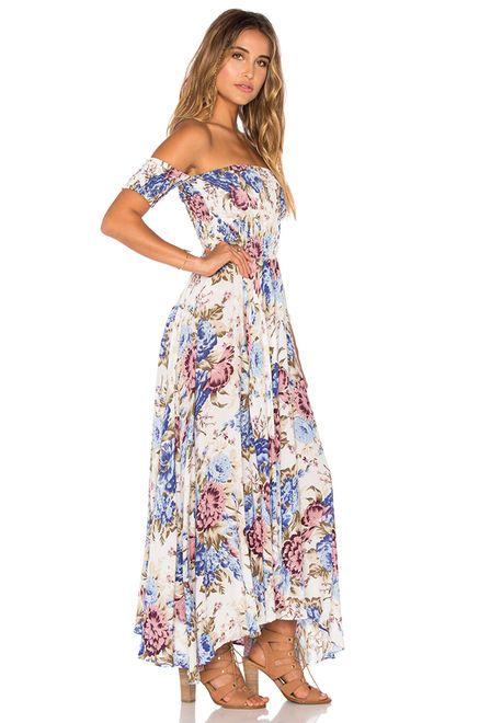 3e1b6bd04264 AUGUSTE Boheme Goddess Maxi Dress in Texan Bloom Natural
