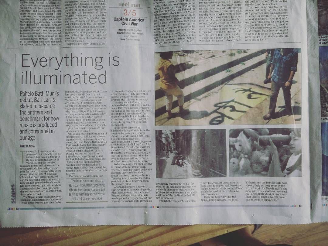 . My headless cameo is on @ekantipur's bari lai coverage . by shashankji