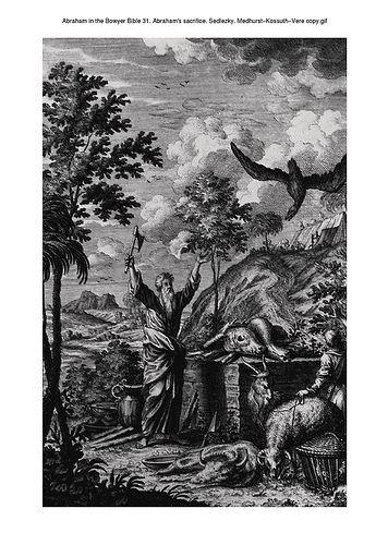 Abraham in the Bowyer Bible 31. Abraham's sacrifice. Sedlezky. Medhurst-Kossuth-Vere copy on Flickr.Abraham in the Bowyer Bible 31. Abraham's sacrifice. Sedlezky. Medhurst-Kossuth-Vere copy