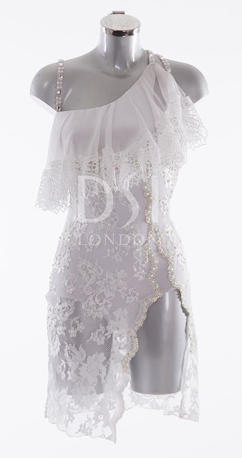 White latin dress | DNC in 2019 | Dance, Dance costumes, Ballroom dress