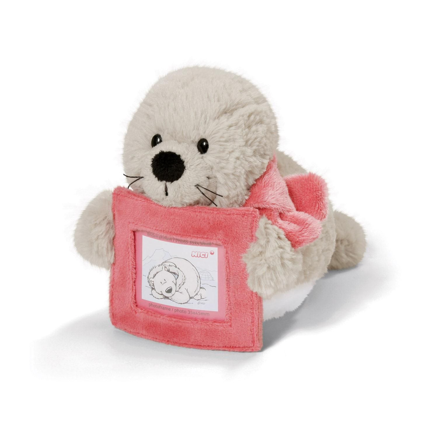 Nici Seal Plush 20cm With Photo Frame Lily Seal Plush Frame
